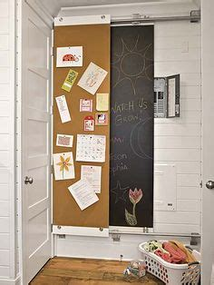 chalkboard paint easy to cover up sliding chalk and cork boards hide the but necessary