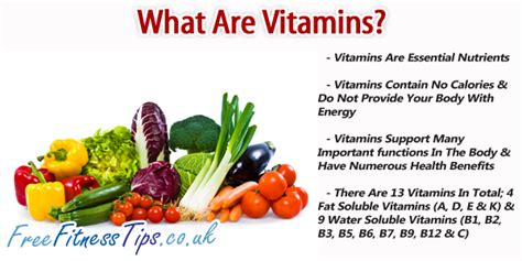 what are what are vitamins free fitness tips