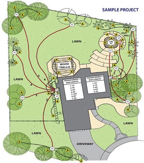 landscape lighting wiring diagram low voltage landscape lighting installation guide sc