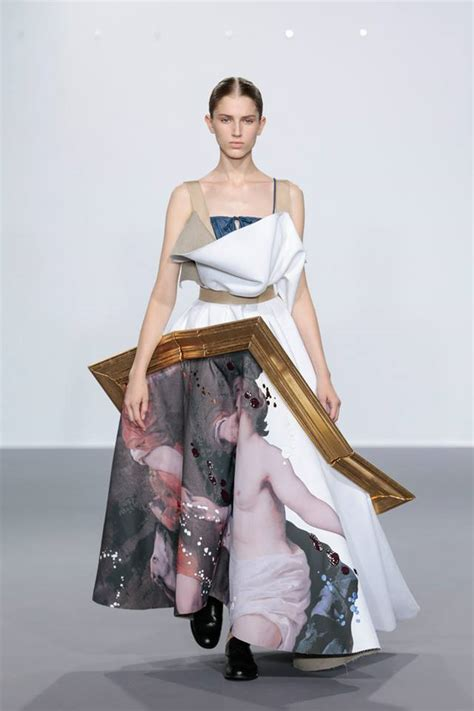 the painting fashion show fashion designers transform framed paintings into