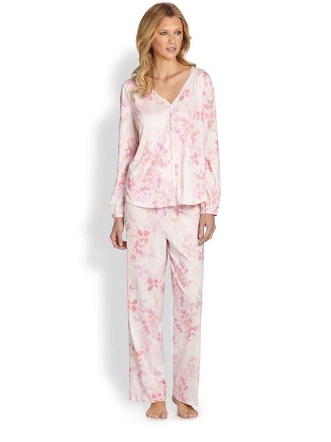 knit pajamas cottonista pima cotton knit pajamas in pink pink floral