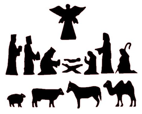 nativity silhouette woodworking patterns nativity silhouette patterns clipart best