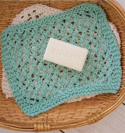knitted washcloths seafoam knit washcloth pattern allfreeknitting