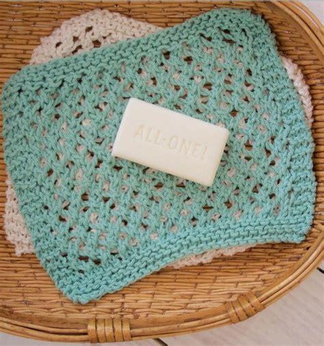 knitting washcloths seafoam knit washcloth pattern allfreeknitting