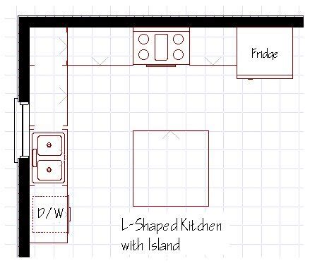 kitchen plans with island best 25 small l shaped kitchens ideas on l