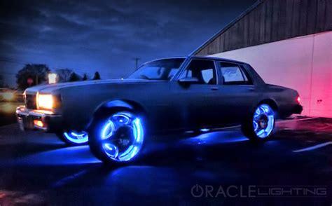 led lights for car oracle lighting led wheel light rings set of 4 led