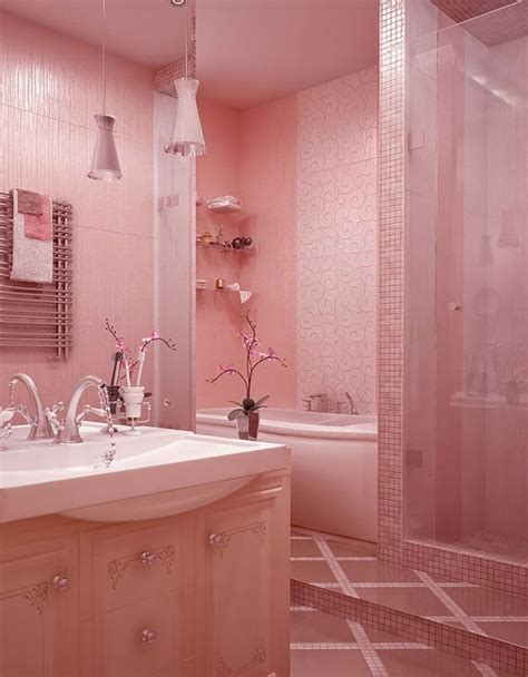 pink bathroom decorating ideas bathroom designs awesome pink bathroom ideas for covered shower silver faucet home