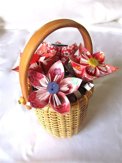 origami gift basket 17 best images about origami flowers on paper