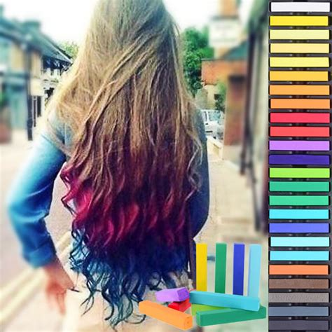 chalk paint your hair 24 colors temporary soft hair dye pastel coloring chalk