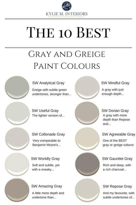 best gray paint colors sherwin williams sherwin williams the 10 best gray and greige paint colours