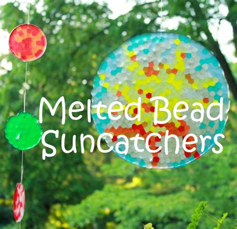 how to make suncatchers with plastic how to make melted bead suncatchers with pony