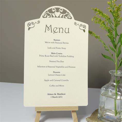 how to make menu card vintage laser cut printed wedding menu card each