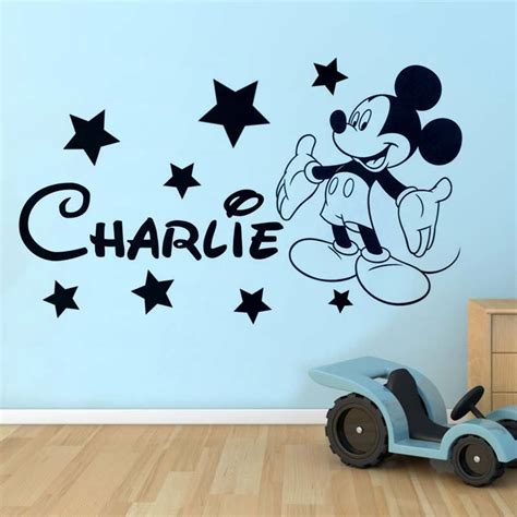 Minnie Mouse Wall Sticker mickey mouse wall sticker disney style personalised any