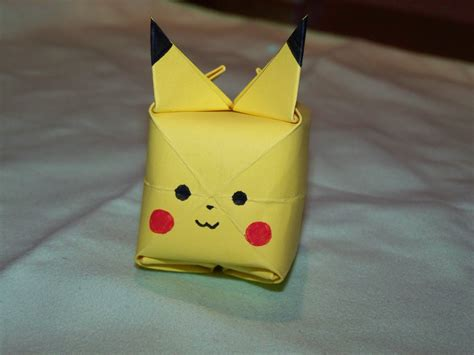 origami pickachu how to create an origami pikachu from a post it note