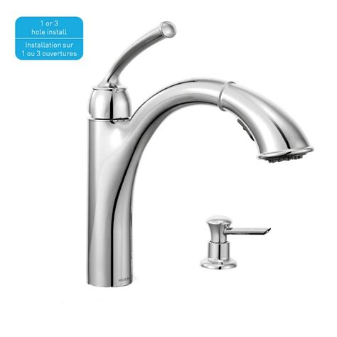 moen kitchen faucets canada sullivan 1 handle reflex pullout kitchen faucet with soap