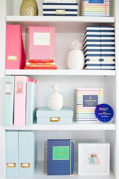 office desk organization supplies best 25 bookshelf organization ideas on