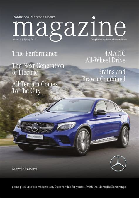 Mercedes Magazine robinsons mercedes magazine 2017 by robinsons