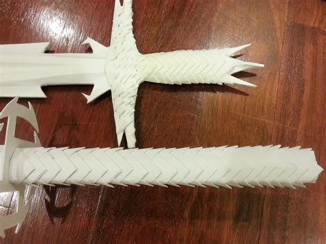 origami claw glove how to make paper scaled sword handle