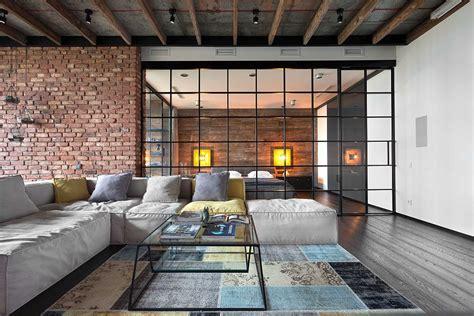 loft style living room high end bachelor pad design stunning loft in kiev by