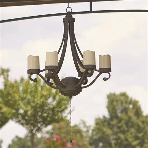 outdoor gazebo chandelier grand resort scroll chandelier