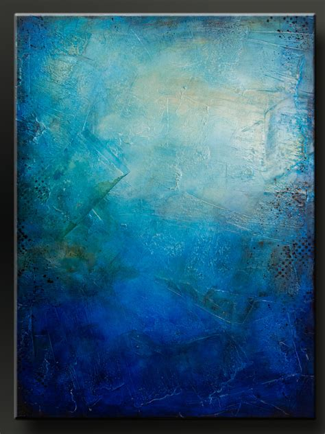 x acrylic painting blue 30 x 40 abstract acrylic painting on canvas