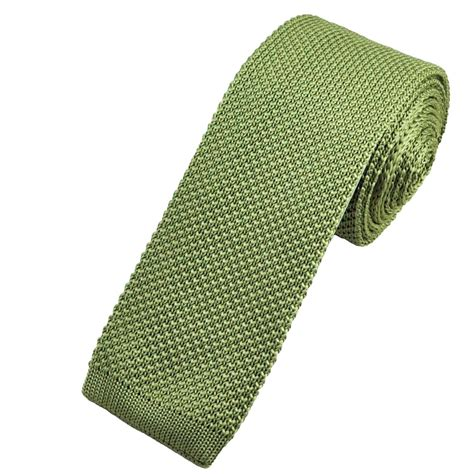 knitted green tie plain green narrow knitted tie from ties planet uk
