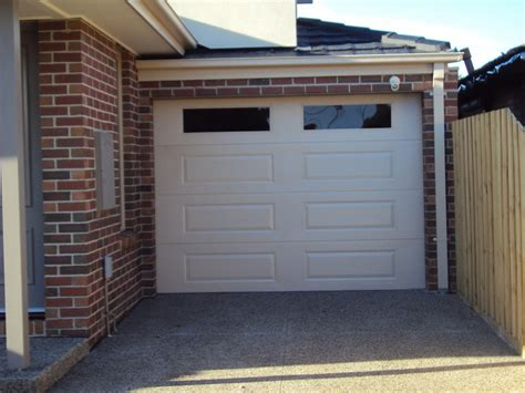 home automation garage door colorbond automatic roller door on fence line including