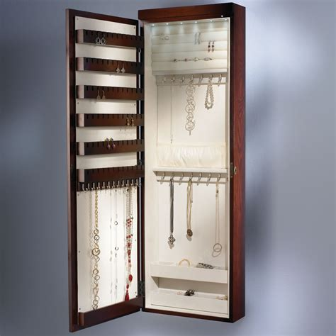 Bathroom Gift Ideas the 45 quot wall mounted lighted jewelry armoire hammacher