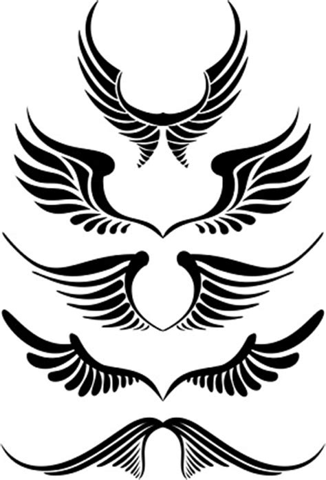 simple angel wings tattoo clipart best