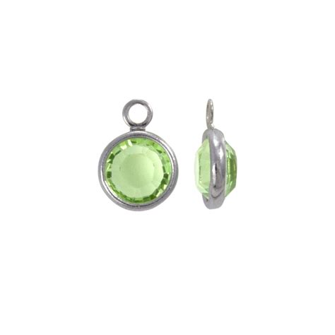 swarovski jewelry supplies swarovksi channel 6mm peridot rhodium plated