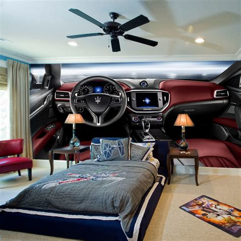 Car Wallpapers For Room by 1x3m Modern 3d Fashion Cool Car Mural Wallpaper For