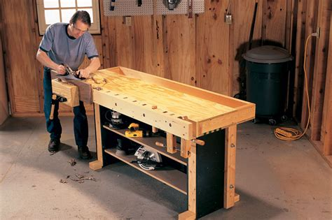 american woodworking tom s torsion box workbench popular woodworking magazine