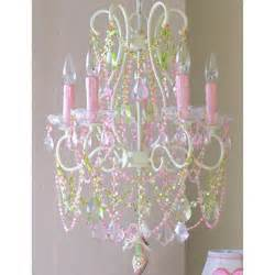 pink and green chandelier pink and green 5 light chandelier