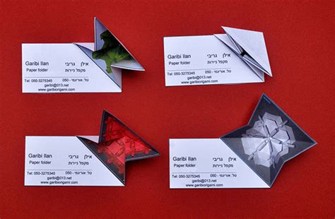 business card origami 20 beautiful creative business card design ideas for