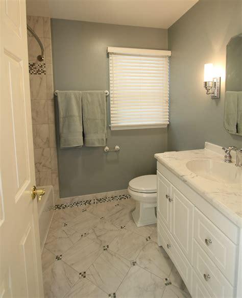 bathroom baseboard ideas baldwin cool toned bath with mosaic tiled baseboards made custom contracting inc