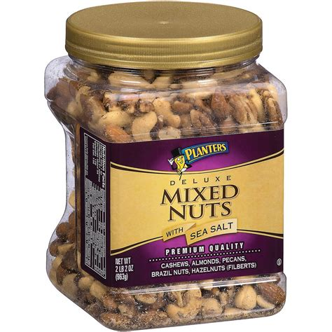 planters mixed nuts planters deluxe mixed nuts with sea salt 34 oz ebay