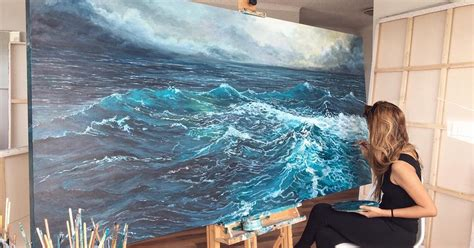 acrylic painting waves paintings of waves by mae capture motion of the