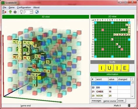 free scrabble with computer 3d scrabble pc simulation board play against