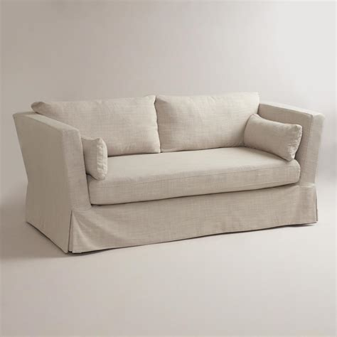 linen sofa slipcovers linen crosby sofa slipcover world market