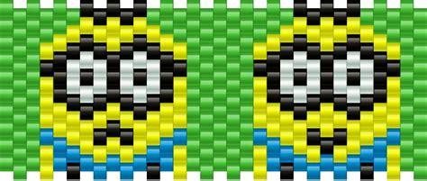 minion bead pattern despicable me minion pony bead patterns characters kandi