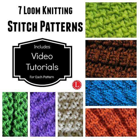 knitting loom stitches loom knitting stitches 7 patterns by canela craftsy