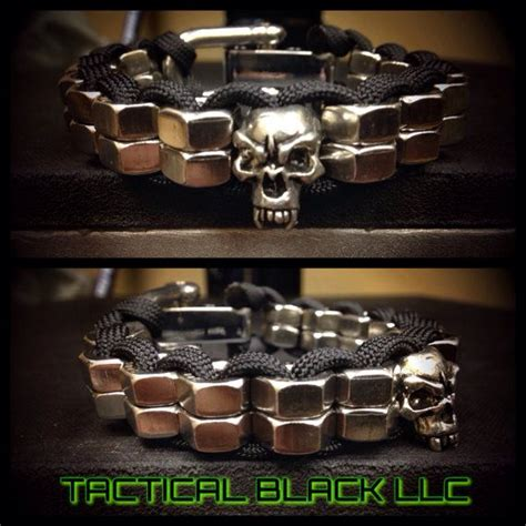 skull for paracord bracelets paracord stack hexnut skull bracelet