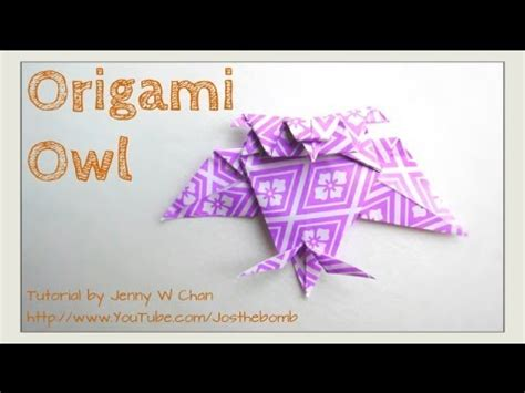 origami owl diy origami owl tutorial how to fold a paper owl easy