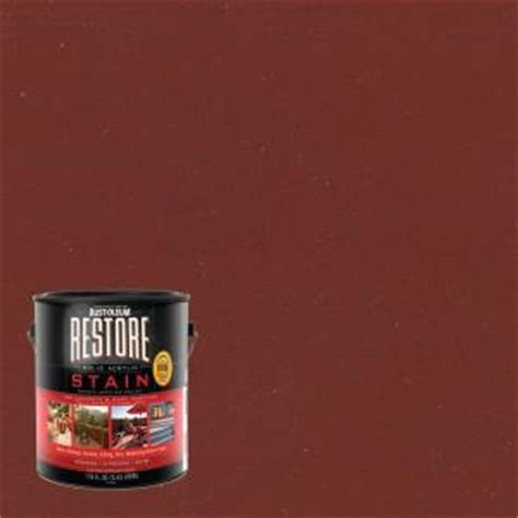 home depot paint olympic rust oleum restore 1 gal solid acrylic water based brick