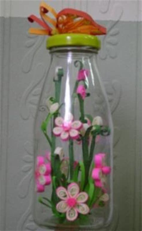 handmade craft ideas paper quilling paper quilling in a bottle