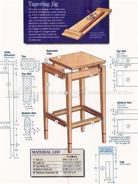 woodworking plans side table side table plans woodarchivist