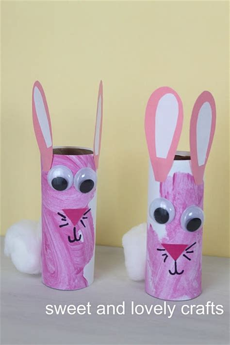 toilet paper easter bunny craft toilet paper roll bunnies easter
