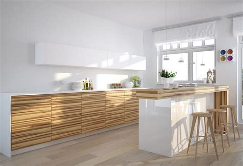 white wood kitchen cabinets white kitchen with wood grain cabinet 3d house
