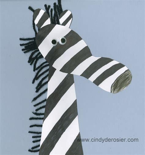 zebra craft for footprint zebra family crafts