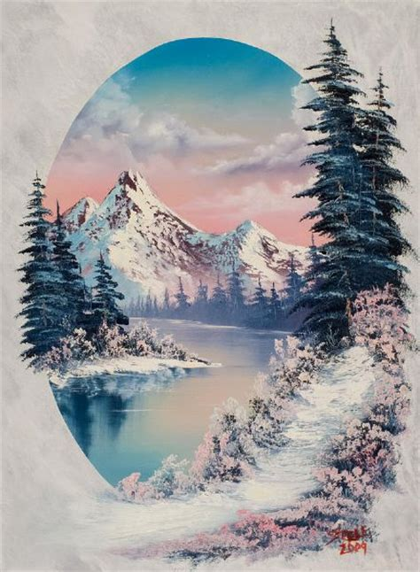 bob ross painting human top winter paintings images for tattoos